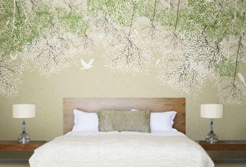 3D whiteer Taubenbaum 83 Tapete Wandgemälde Tapete Tapeten Bild Familie DE