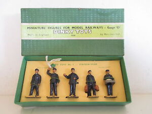 Gb Dinky 1 001 Figurines du personnel de la station X5 Mib Version Rare Version So Nice L @@ k