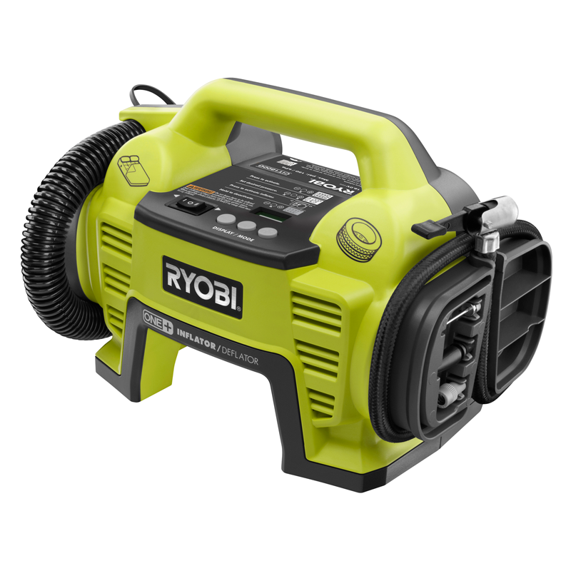 Ryobi ONE+ 18V Cordless Air Inflator & Deflator - Digital readout, set pressure