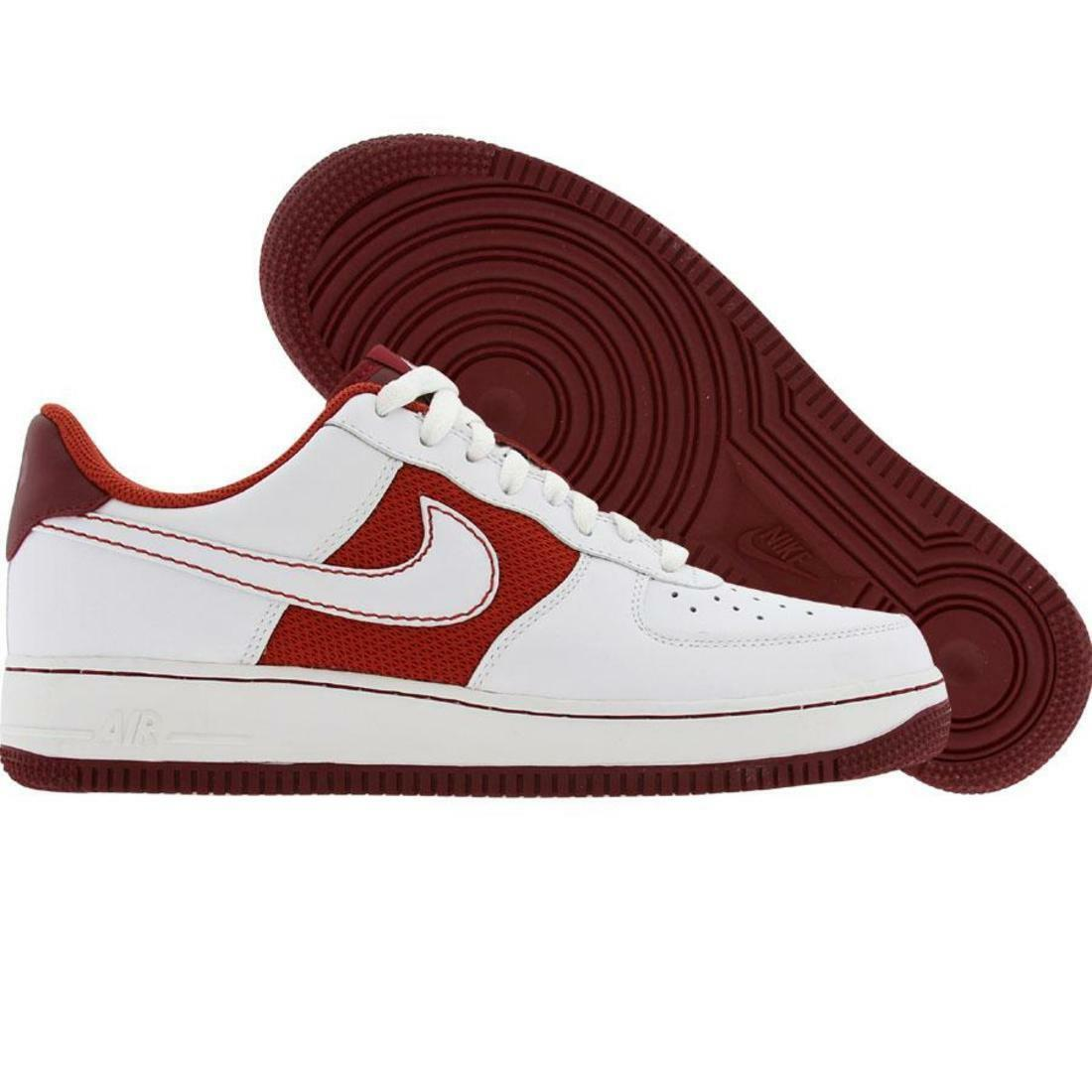 Nike Air Force 1 `07 Men's Real Leather Sneaker Red 315122