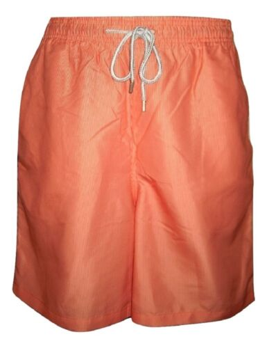 "Mens Swim Shorts Orange Stripe 30/"" 34/"" Waist Pockets Mesh Lined Kirkland"