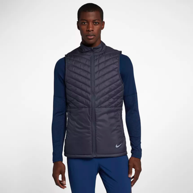 Nike Mens Aerolayer Running Vest Size