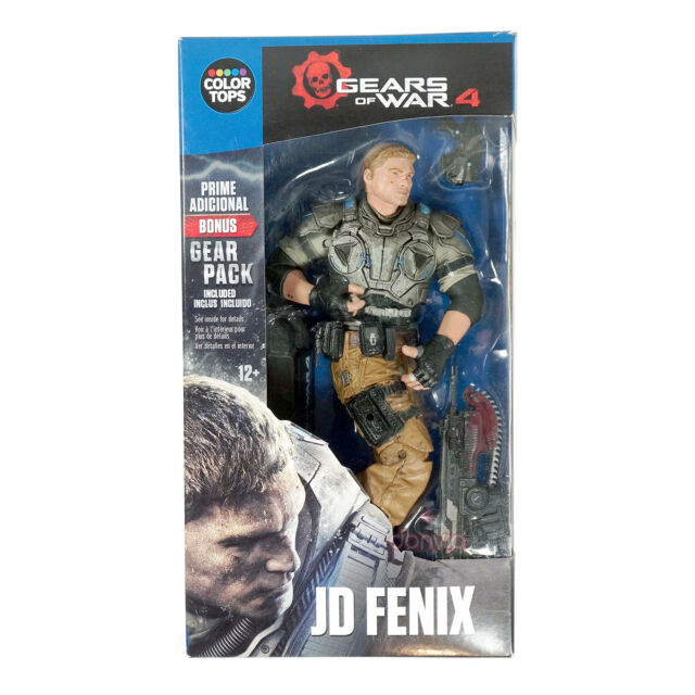 """McFarlane Toys Gears of War 4 JD Fenix #9 Color Tops Collector Edition 7"""" Figure"""