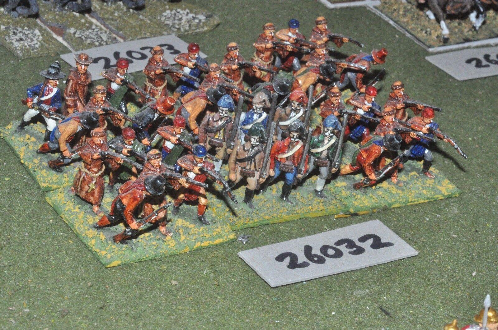 25mm napoleonic   spanish - guerillas 36 figures - inf (26032)