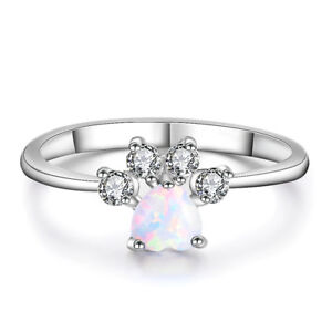 Image Is Loading Heart Cut White Fire Opal Ring Gold