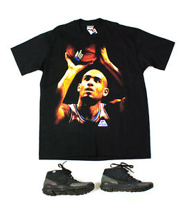 2153d0859cc46 🔥 FILA 🔥 NWT vintage GRANT HILL Black Cotton T-shirt, Made in ...
