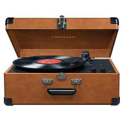 Crosley CR6249A-TA Keepsake Portable USB Turntable Vinyl Record Player TAN