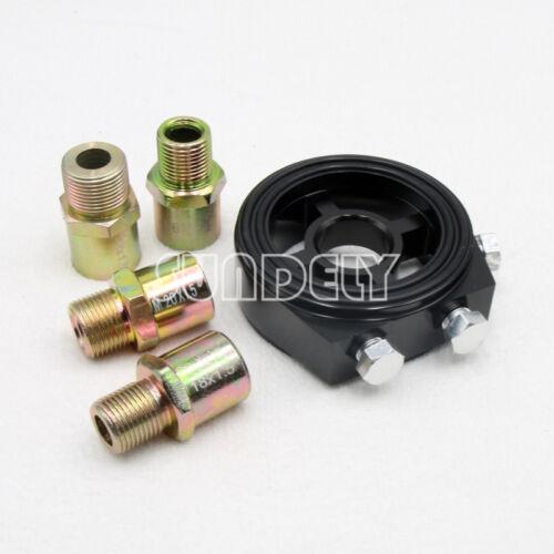 UK BLACK CAR OIL TEMP PRESSURE FILTER SANDWICH SENSOR PLATE M18 M20 M22 3//4UNF