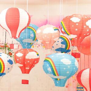12-039-039-Kids-Rainbow-Hot-Air-Balloon-Paper-Lantern-Lampshade-Ceiling-Light-Shade-ME