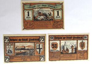 Notgeld-1921-Medebach-Germany-3-pc-set-Emergency-money