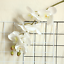 thumbnail 5 - Beautiful-Artificial-Phalaenopsis-Orchid-Flower-Bunch-of-2-White-Pink-Purple