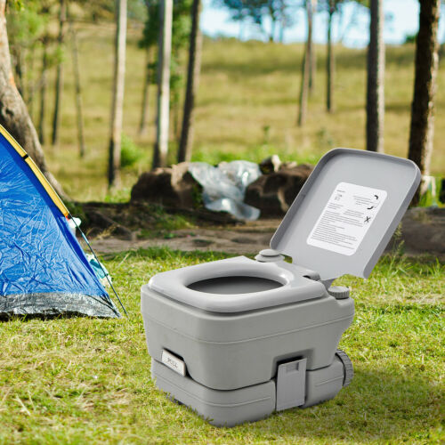 Outsunny 10L Portable Flush Travel Toilet Outdoor Camping Hilking Potty New
