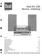 Dual Service Manual für KA 230