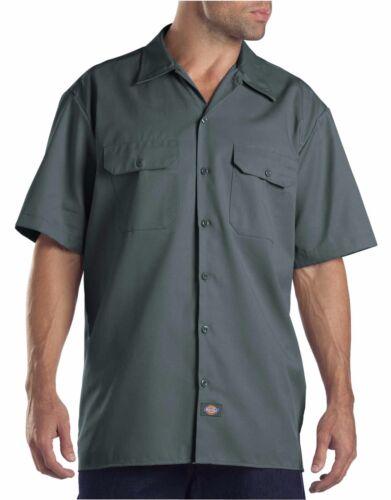 Dickies Mens Lincoln Green Short Sleeve Work Uniform Button Up Casual Shirt 1574