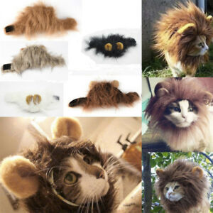 61ce1162d Furry Pet Hat Costume Lion Mane Wig For Cat Halloween Dress Up With ...