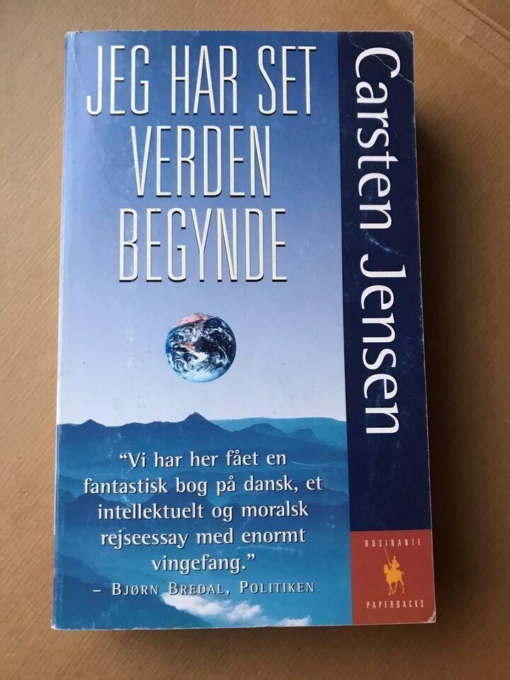 Jeghar set verden begynde, Carsten Jensen, emne: