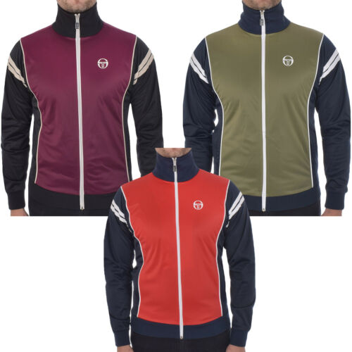 Sergio Tacchini Mens Scirocco Casual Full Zip Funnel Tracksuit Top Track Jacket