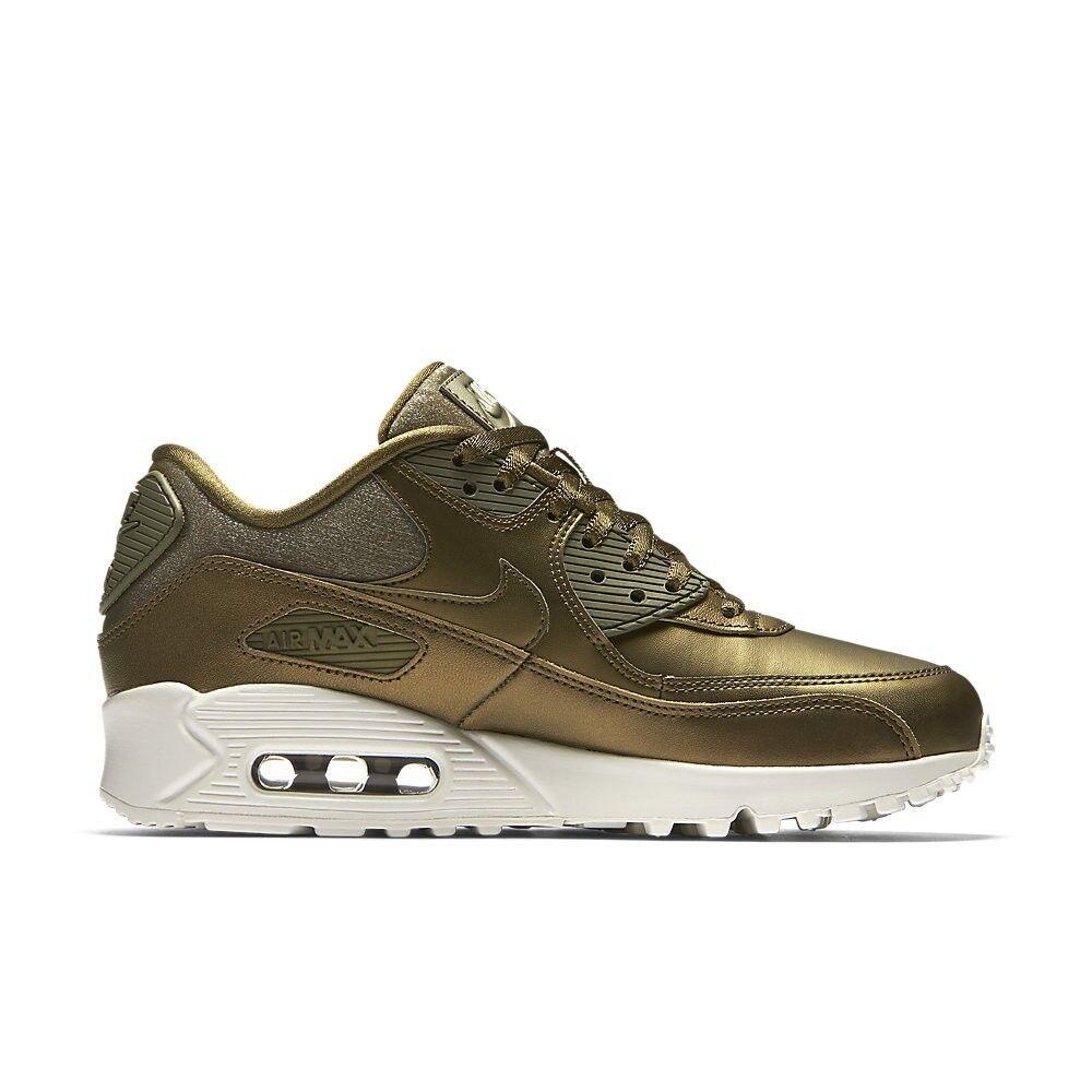 Nike WMNS AIR MAX 90 PRM METALLIZZATO 896497-901 CAMPO MISURA 4.5 Regno Unito