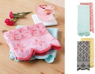 Pink and Blue Botanica Jacquard Tea Towels - Set of  2