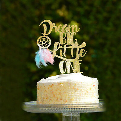 dream big little one dream catcher cake topper for wedding ...
