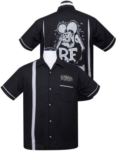 Rat Fink KUSTOMAS Bowler Button Up Racing 50s Bowling Shirt HEMD Rockabilly