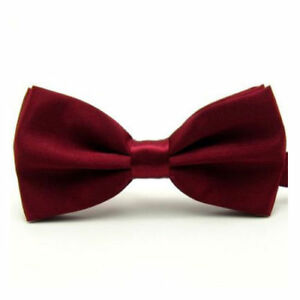 5399064e11d2 FANTASTIC DARK RED KIDS CHILD POLY SATIN BOW TIE AGE 2 - 5 yrs ...