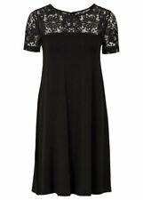 Damen Kleid mit Spitzeneinsätzen 243770 in Pastellmint 38