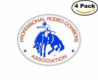 Professional Rodeo Cowboys Prca Decal Diecut Sticker 4 Stickers