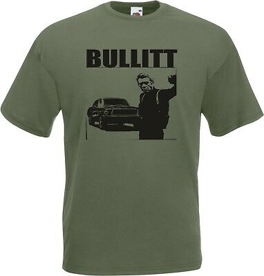 Cool Steve Mcqueen T-Shirt for Men Bullitt Black Size S-XXXL