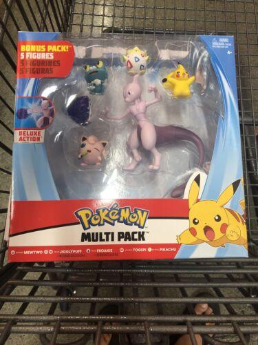 Pokemon Mewtwo Jigglypuff Froakie Togepi /& Pikachu 3-Inch Multi Figure 5-Pack