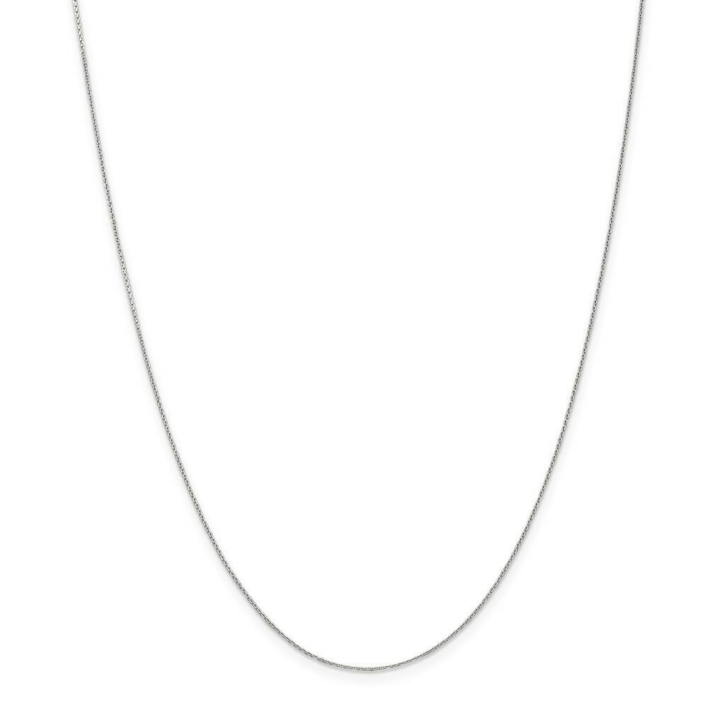 14kt White gold .65mm D C Cable Chain; 16 inch