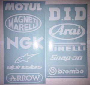 Motorbike-Swingarm-Stickers-GLOSS-or-Matt-White-Suzuki-Kawasaki-Honda-Yamaha-KTM