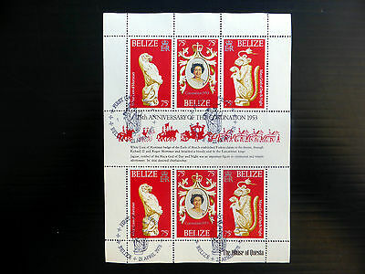 Stamps Latin America Belize 1978 Coronation Sheetlet Of 6 Fine/used Fp7607