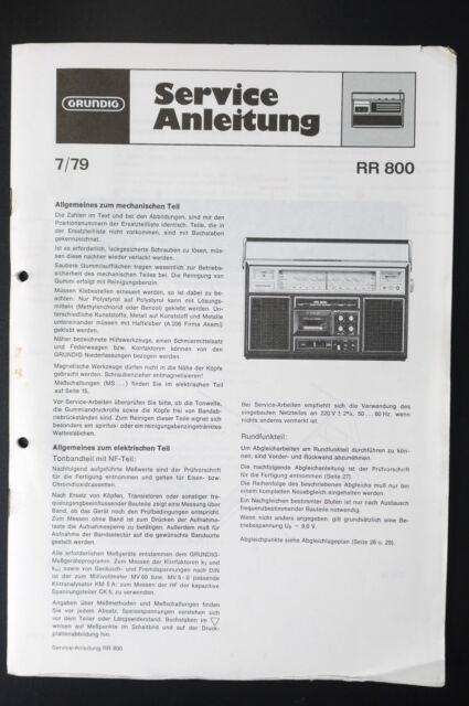 Grundig Rr 800 Original Service Manual  Service Manual  Wiring Diagram  O29