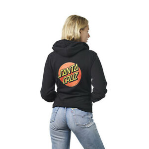 Santa Cruz Womens Classic Dot Zip Hoodie 44251085