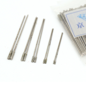 1.0-2.3mm Diamond Coated Drill Bit Set Dia Hole Saw Glass Jewelry Gem Cutter Tip