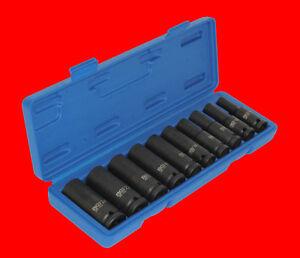 10-tlg-Tiefe-Kraft-Schlagschrauber-Stecknuss-Satz-Steckschluessel-10-24mm-B5206