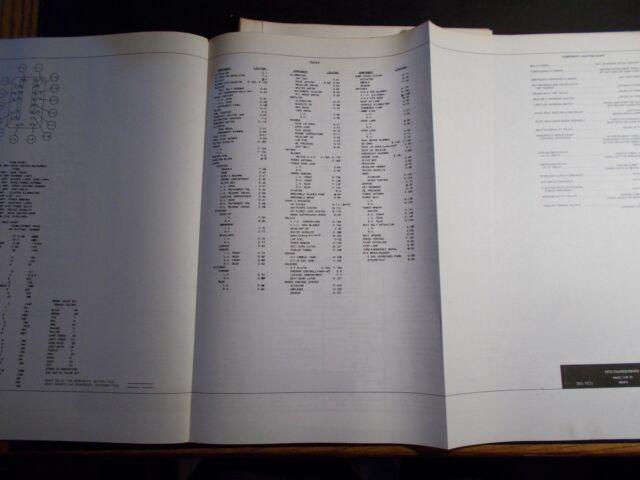 1973 FORD THUNDERBIRD WIRING DIAGRAM FORD MOTOR COMPANY   eBay