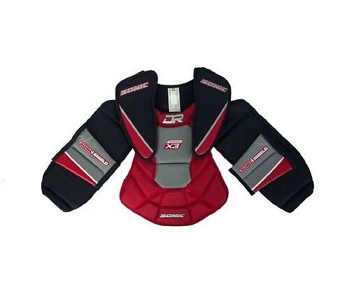 Dr X3 Sonic Ball Street Hockey Goalie Chest Arms Protector Junior