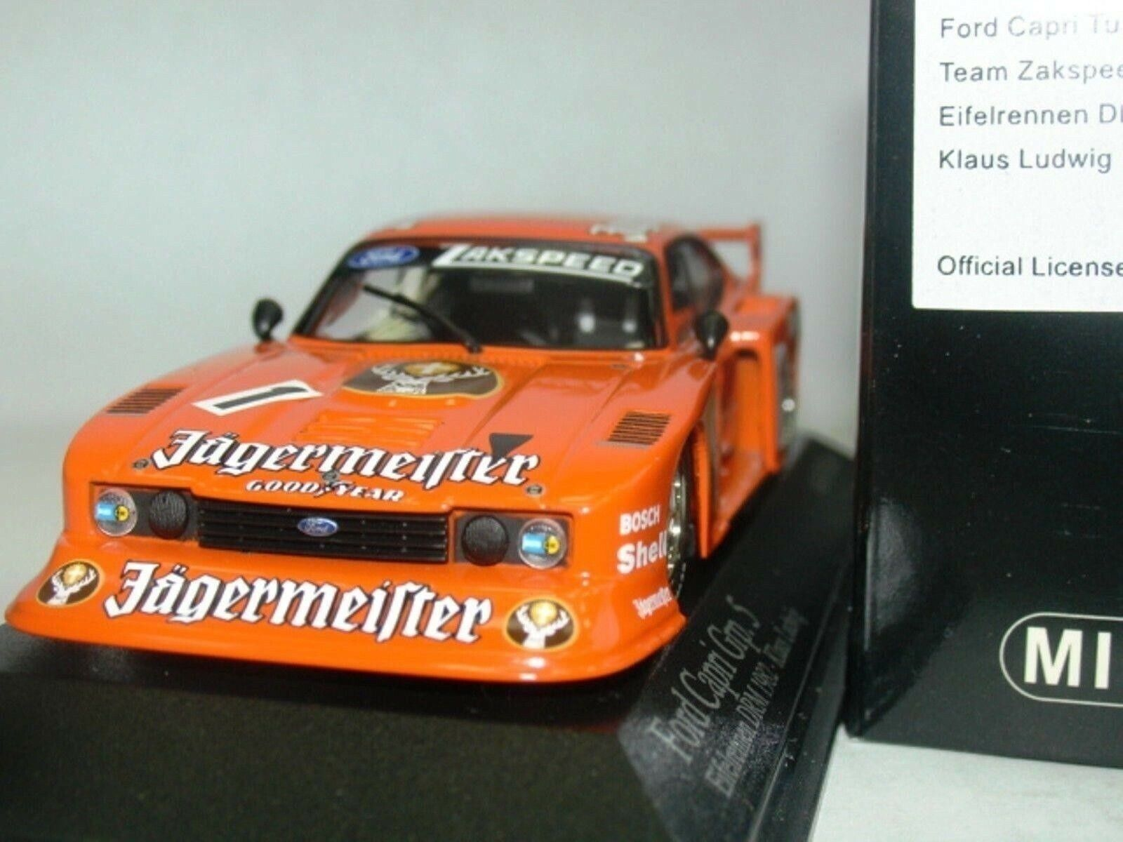 WOW EXTREMELY RARE Ford Capri MkIII Gr5 1982 DRM Jager Ludwig 1 43 Minichamps