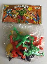 """RARE Vintage PVC MARVEL """"faux""""  GULLIVER SUPER HEROES Figures SEALED in bag!"""