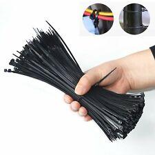 100 1000 Pcs 4 To 18 Usa Industrial Black Wire Cable Zip Uv Nylon Tie Wraps