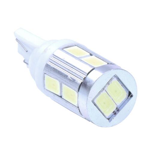 T10 194 168 W5W LAMP BULB 10 SMD LEDs DC12V WHITE For CAR T6V8 ZC