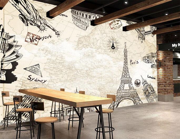 3D Tower Paint 52 Wallpaper Murals Wall Print Wallpaper Mural AJ WALL AU Kyra