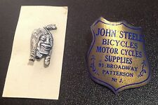 Vintage Original 1930'S INDIAN MOTORCYCLE Laughing Indian PIN by Childs Chicago