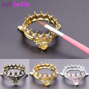 Vintage Crown Nail Art Brush Holder Uv Gel Pen Display Acrylic Gel
