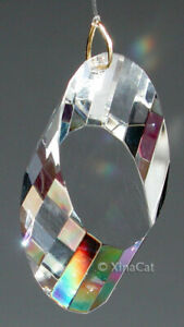 68mm-Prism-SPARKLY-Fluted-Crystal-Clear-Slice-Huge-SunCatcher-2-2-3-inches