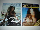 SARAH BRIGHTMAN on cover magazine LOT of 2 rare L@@K