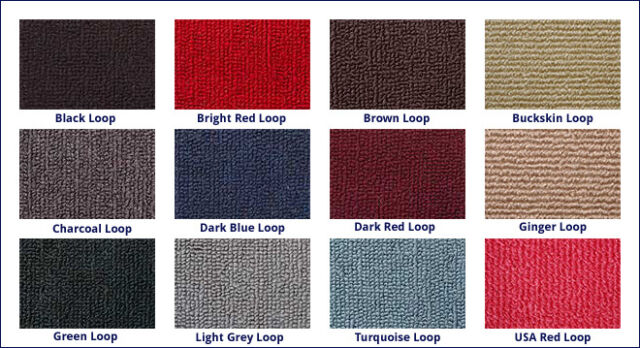 Holden HQ,HJ,HX,HZ & WB ute Loop Pile Moulded Carpet Front and Rear