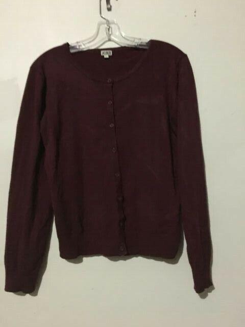 14th & Union Burgundy Cardigan Sweater Top Women Size XL Stylish RN